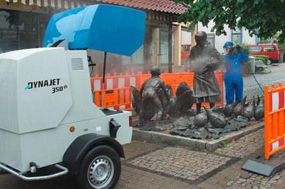 Denkmäler schonend reinigen