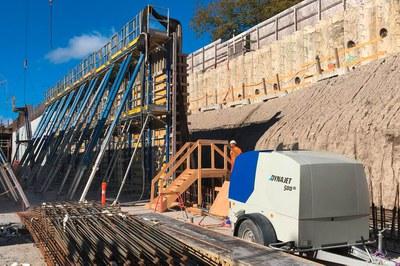 Beton & Beschichtungen für die Tunnelsanierung mit Hochdruck abtragen